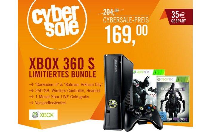 Xbox 360 S 250 GB mit Darksiders II & Batman Arkham City für 169,00 Euro