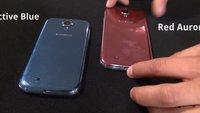 Samsung Galaxy S4: Rote und blaue Farben im Video, 3 weitere angekündigt