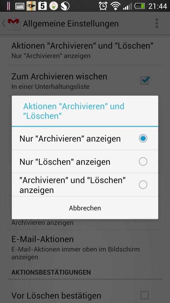 Gmail Delete Button