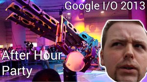 Google I/O After Hour Party mit Jon Bon Jovi, Metall Hand und Roboter