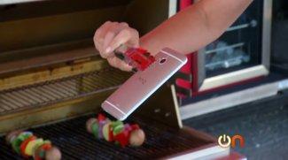 HTC One Härtetest - Böser Droptest,Wasser und ein Barbecue Grill