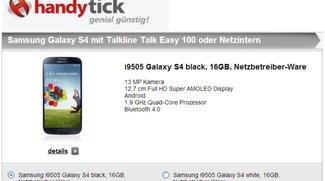 Samsung Galaxy S4 mit Vertrag für 99 Euro bei handytick
