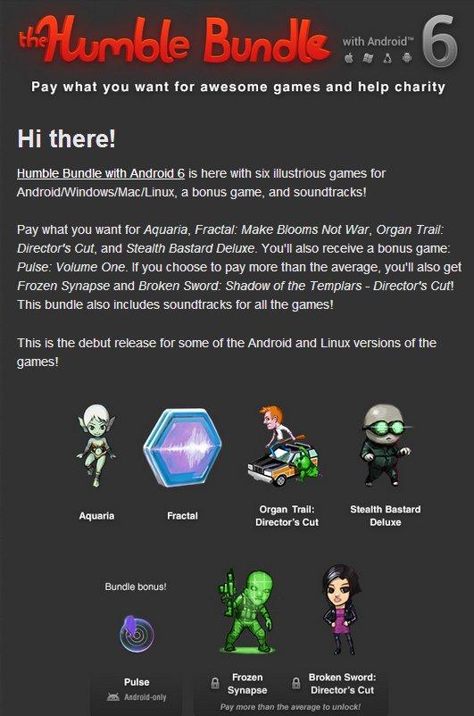 HumbleBundle 6 Android