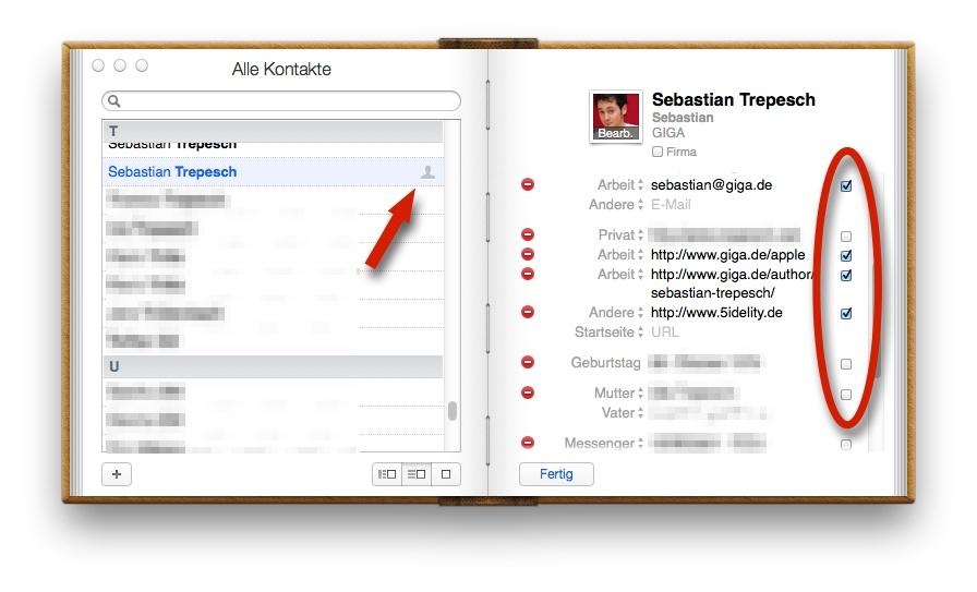 Mac Adressbuch Privaten Filter Für Visitenkarte Anlegen Tipp