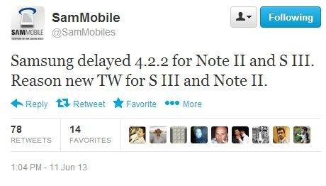 Android 4.2.2 für das Samsung Galaxy S3 und Note 2 verzögert sich (Gerücht)
