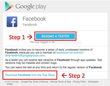 Facebook Beta-Tester werden