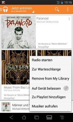 Musik offline speichern