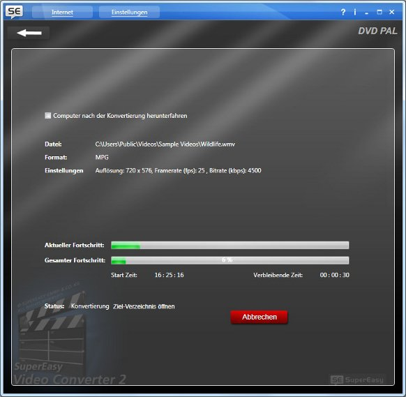 Super Easy Video Converter 2 Videos umwandeln