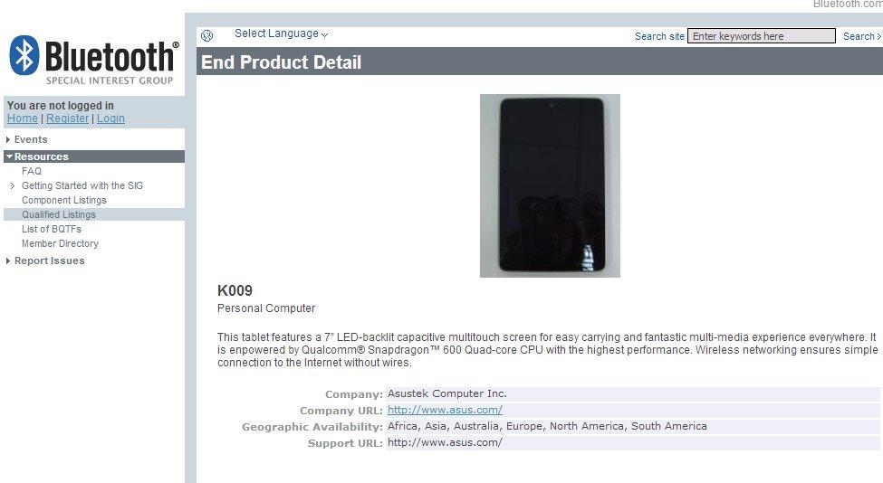 Nexus 7 2. Generation: genauere Daten und ein Bild