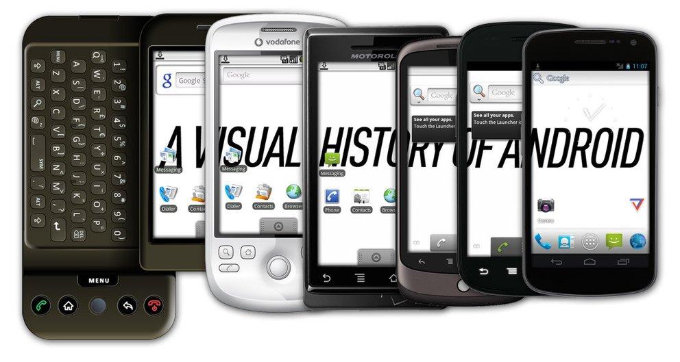 Android: Die Evolution des Systems in Bildern