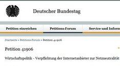 Anti-Telekom-Petition: Bundestag berät heute über Netzneutralität (Live-Stream)