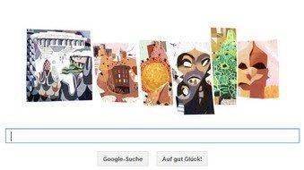 Google gratuliert dem Architekten Antoni Gaudi mit einem Doodle