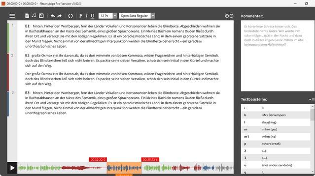 transkriptionsprogramm f4