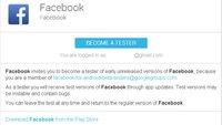 Facebook-App: Betatester gesucht