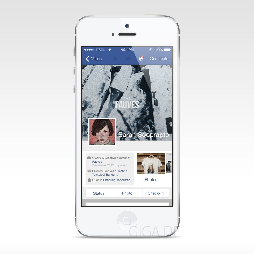 Facebook für iOS 7 - Konzept von Anatasof Wirapraja