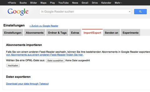 google-reader-export-xml