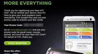 HTC One: Play Store-Gutschein über 25 Dollar für registrierte Geräte [Tipp]