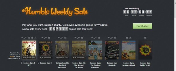Humble Weekly Sale: Serious Sam im Angebot