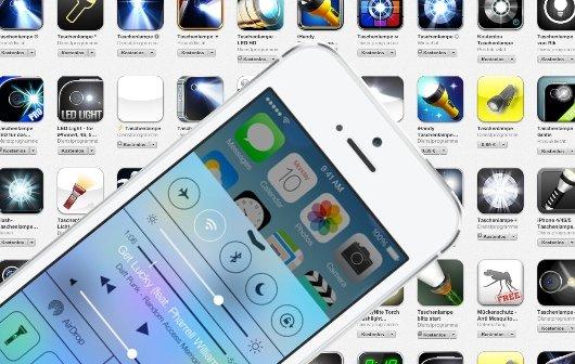 iOS 7-Funktionen: Zum Teufel mit den Taschenlampen-Apps!