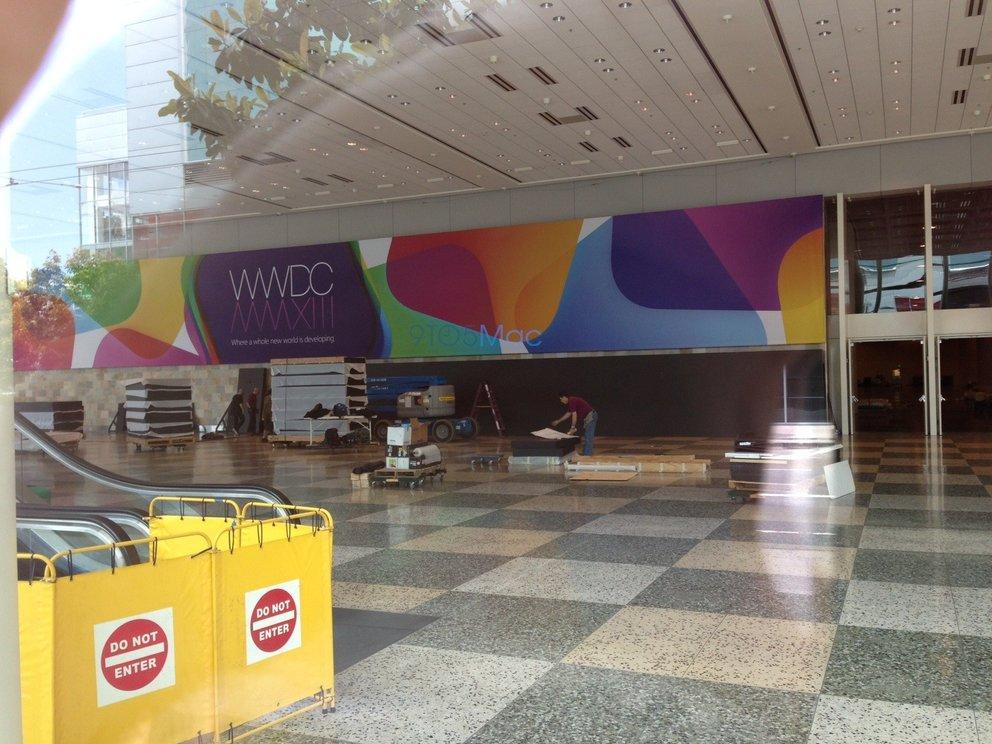WWDC 2013: Apple dekoriert Moscone West