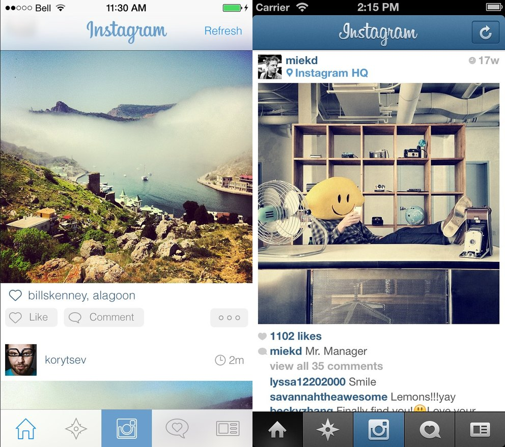 Instagram in iOS 7
