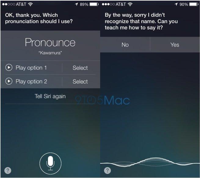 iOS 7: Siri kann Aussprache von Namen lernen