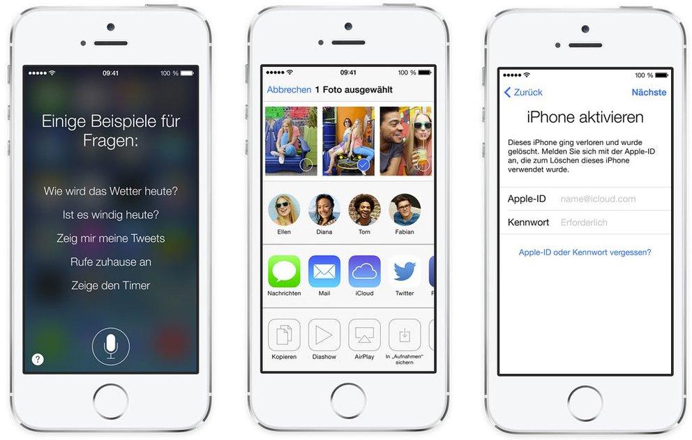 iOS 7: Siri - AirDrop - Mein iPhone, iPad, iPod touch suchen
