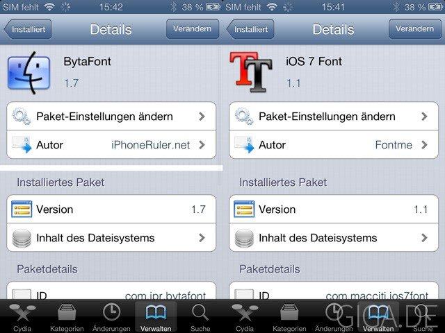 BytaFont und iOS 7 Font