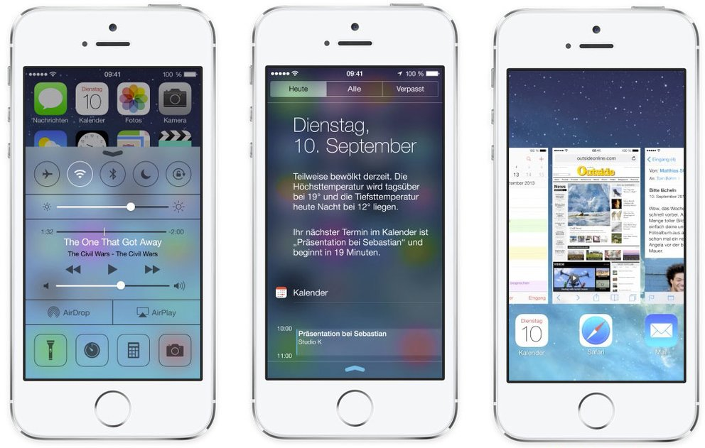 iOS 7: Kontrollzentrum - Mitteilungszentrale - Multitasking