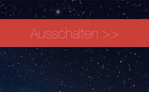 """iOS 7 Beta 2 - Ausschalten-Slider jetzt mit """">>"""""""