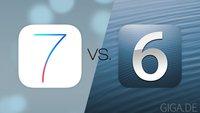 iOS 7 vs iOS 6: Designs und Apps im großen Vergleich