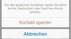 iOS 7: Anrufe blockieren jetzt mit dem iPhone möglich
