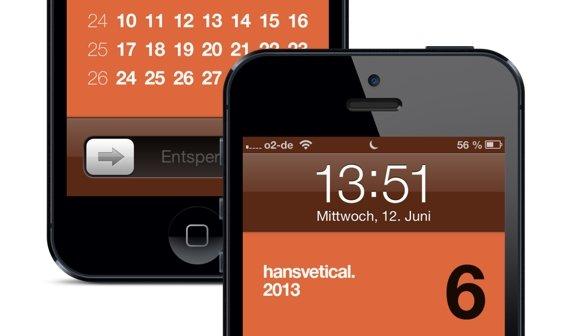 iPhone 5: Kalender für den Sperrbildschirm – Hansvetical 2013