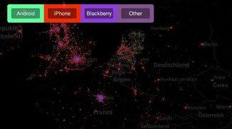 Mapbox: Interaktive Karte zeigt globale Verbreitung von iPhone, Android und Co. [Pic of the Day]