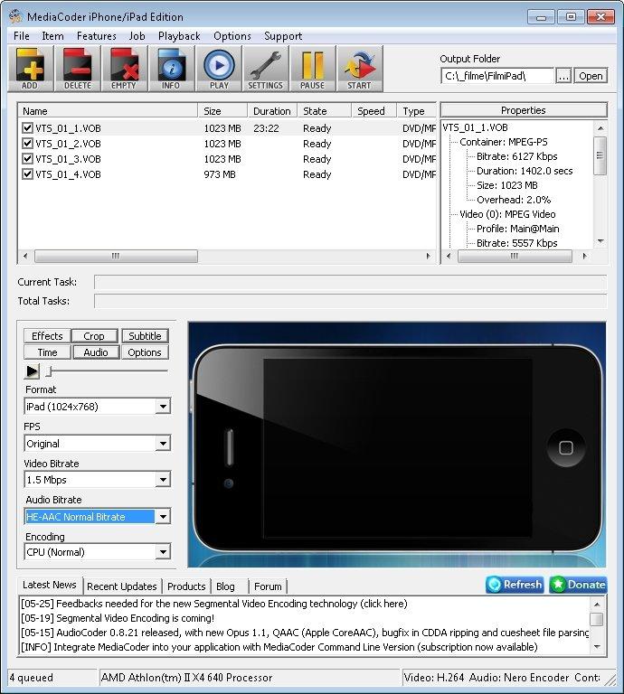 Mediacoder DVD Film iPad konvertieren