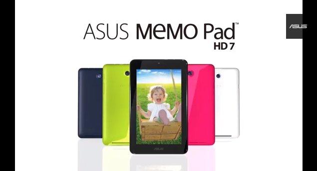 Promo-Video zum günstigen Quad-Core-Tab Asus MeMo Pad HD7