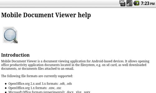 mobile document viewer