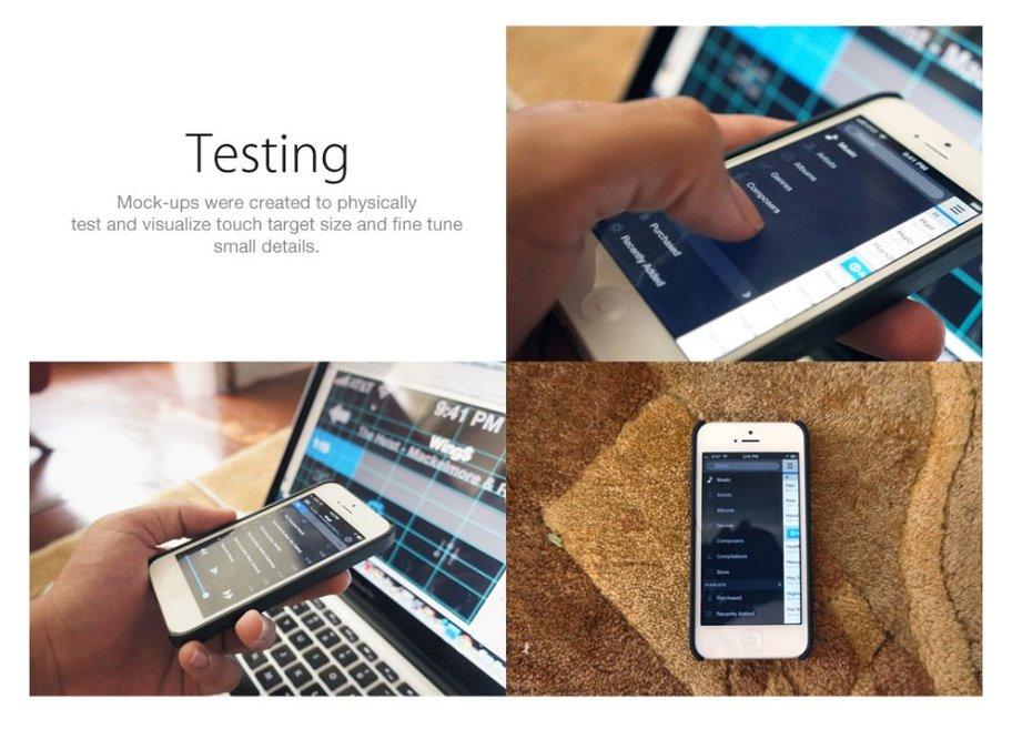 Designstudie für neue Musik-App von iOS 7