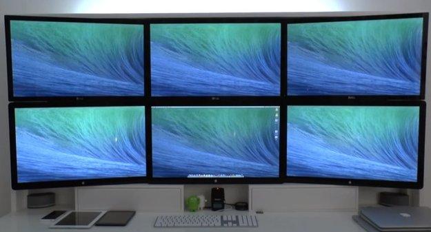 OS X Mavericks: Video zeigt Unterstützung mehrerer Displays
