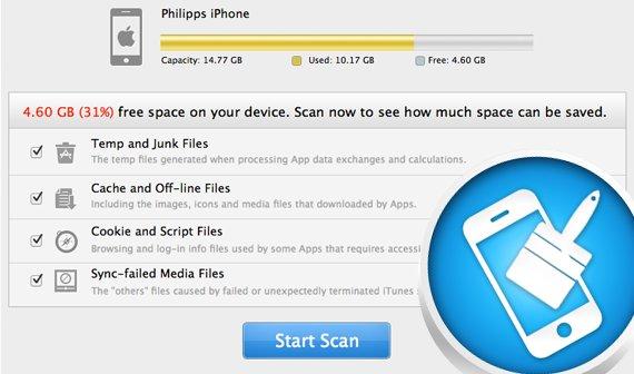 iOS-Gerät mit PhoneClean aufräumen (Mac & PC)