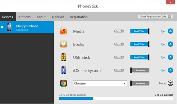 iPhone und iPad mit Windows synchronisieren (ohne iTunes): Phone Stick