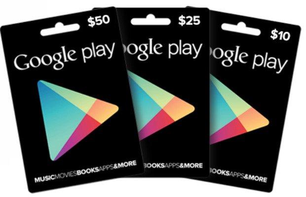 Google Play Geschenkkarten ab nächsten Montag offiziell erhältlich?