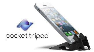 Pocket Tripod 360°: Multifunktionaler iPhone-Ständer im Kreditkartenformat [Kickstarter]