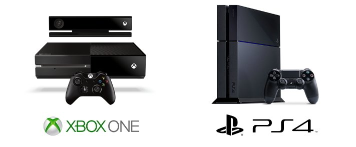 playstation 4 vs xbox one infografik hardware spiele. Black Bedroom Furniture Sets. Home Design Ideas