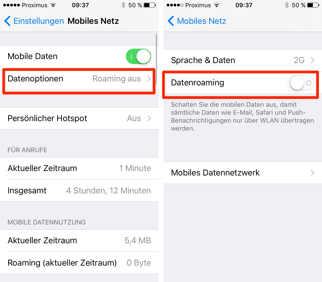 Iphone 7 Plus datenvolumen kontrollieren