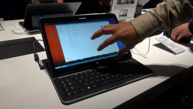 Samsung ATIV Q: Ultrabook-Slider mit Android &amp&#x3B; Windows 8 im Hands-On [Video]