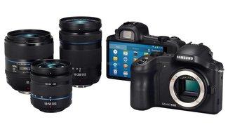 Samsung Galaxy NX: Geleakte Pressebilder zeigen Wechselobjektive