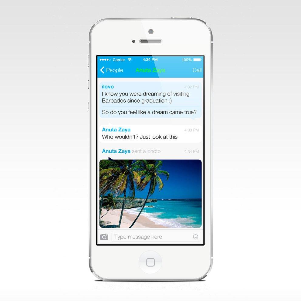 Skype für iOS 7 - Konzept von Alexandra Denisova