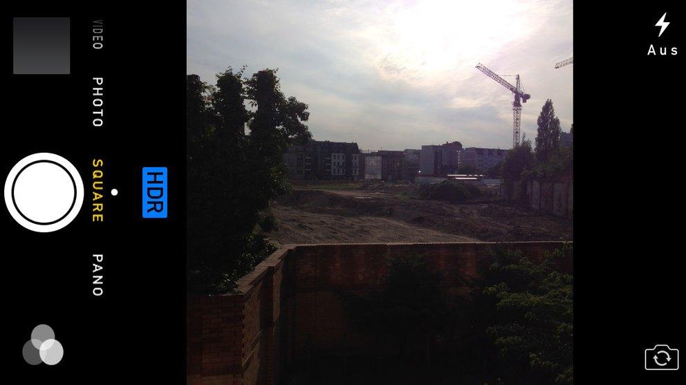 """iOS 7 - Quadratischer Viewfinder im """"Square""""-Modus"""