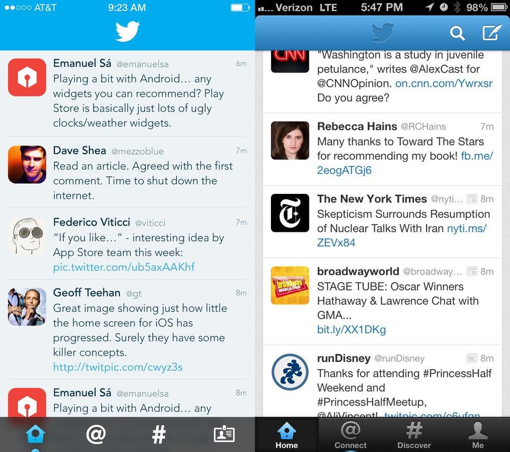 Twitter in iOS 7